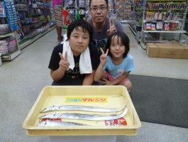太刀魚の釣果!